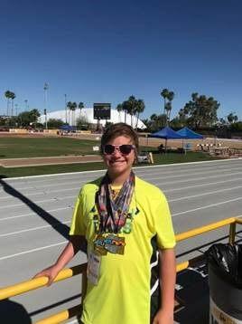 Trent Clayton har vunnit flera guld och silver medaljer